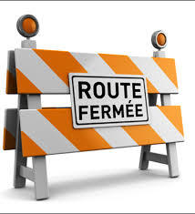 INFORMATION ROUTE FERMEE